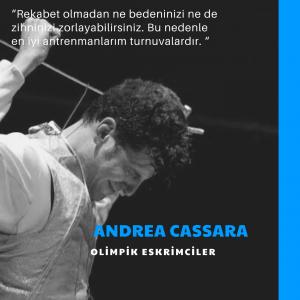 Olimpik eskrimci Andrea Cassara